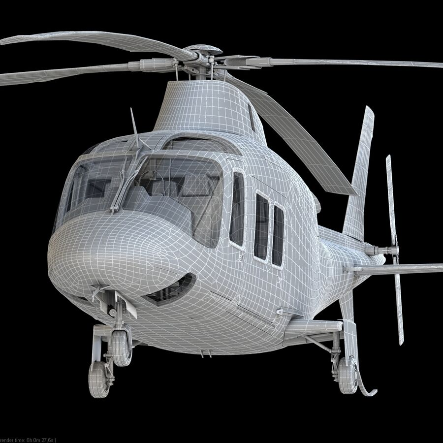 Helikopter AW 109 royalty-free 3d model - Preview no. 14