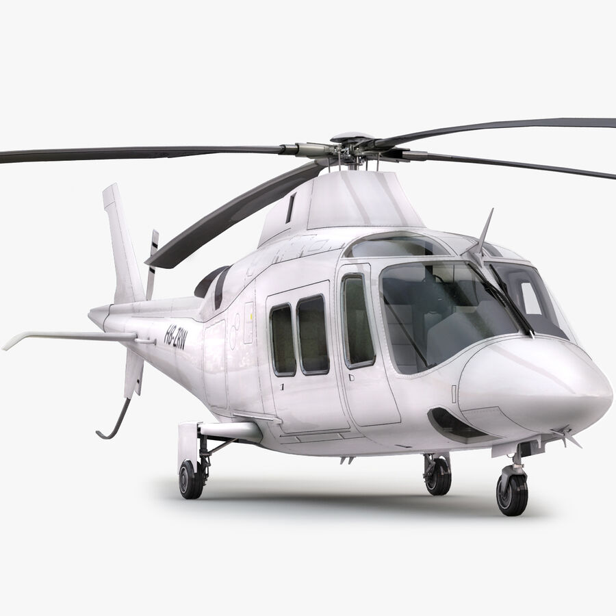 Helikopter AW 109 royalty-free 3d model - Preview no. 1