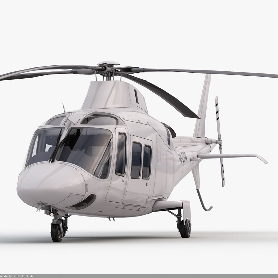Helikopter AW 109 royalty-free 3d model - Preview no. 4