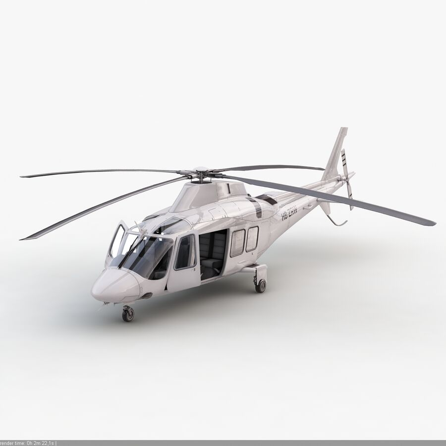 Helikopter AW 109 royalty-free 3d model - Preview no. 10
