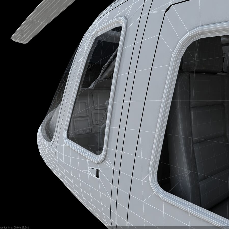 Helikopter AW 109 royalty-free 3d model - Preview no. 17