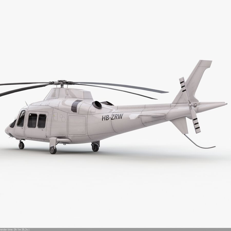 Helikopter AW 109 royalty-free 3d model - Preview no. 7