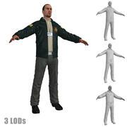 Agent FBI 3 LODs 3d model