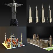 colección de puntos de referencia modelo 3d