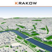 Krakau Stadt abgeschlossen 3d model