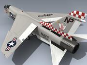 F-8J Crusader (VF-24 CO) 3d model