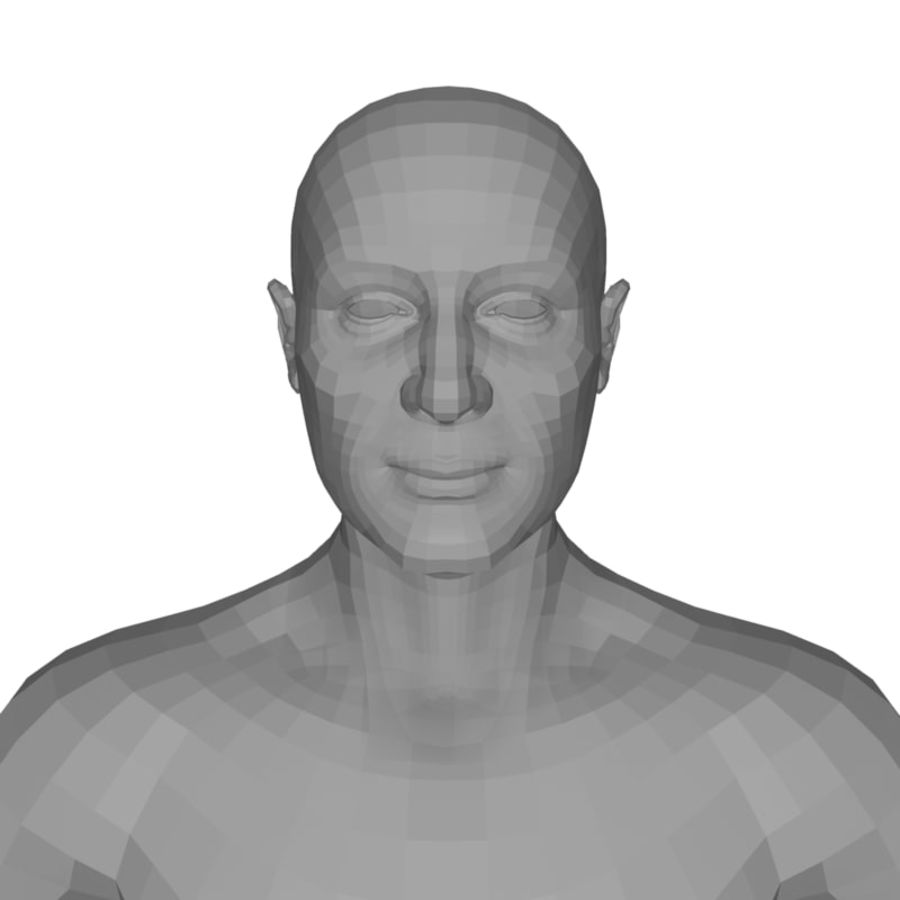 Male Body(1) royalty-free 3d model - Preview no. 11