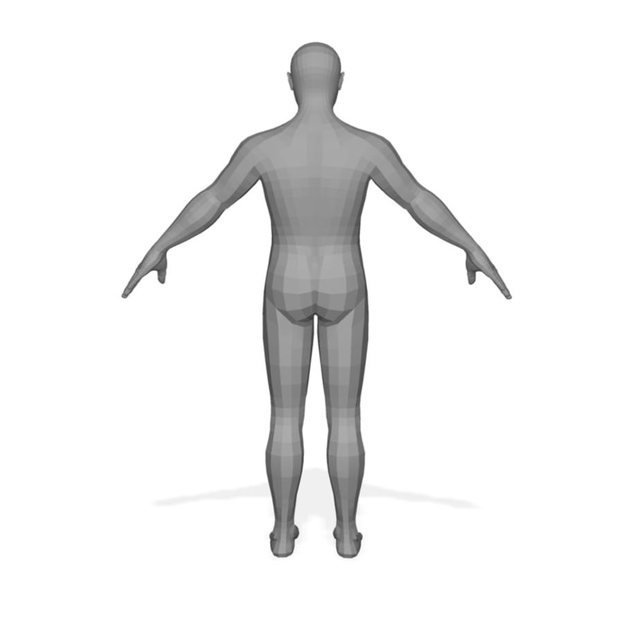 Male Body(1) royalty-free 3d model - Preview no. 4
