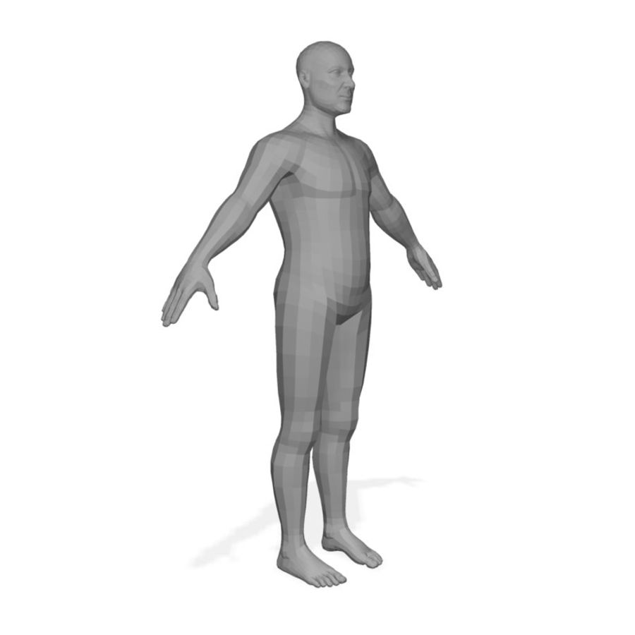 Male Body(1) royalty-free 3d model - Preview no. 2