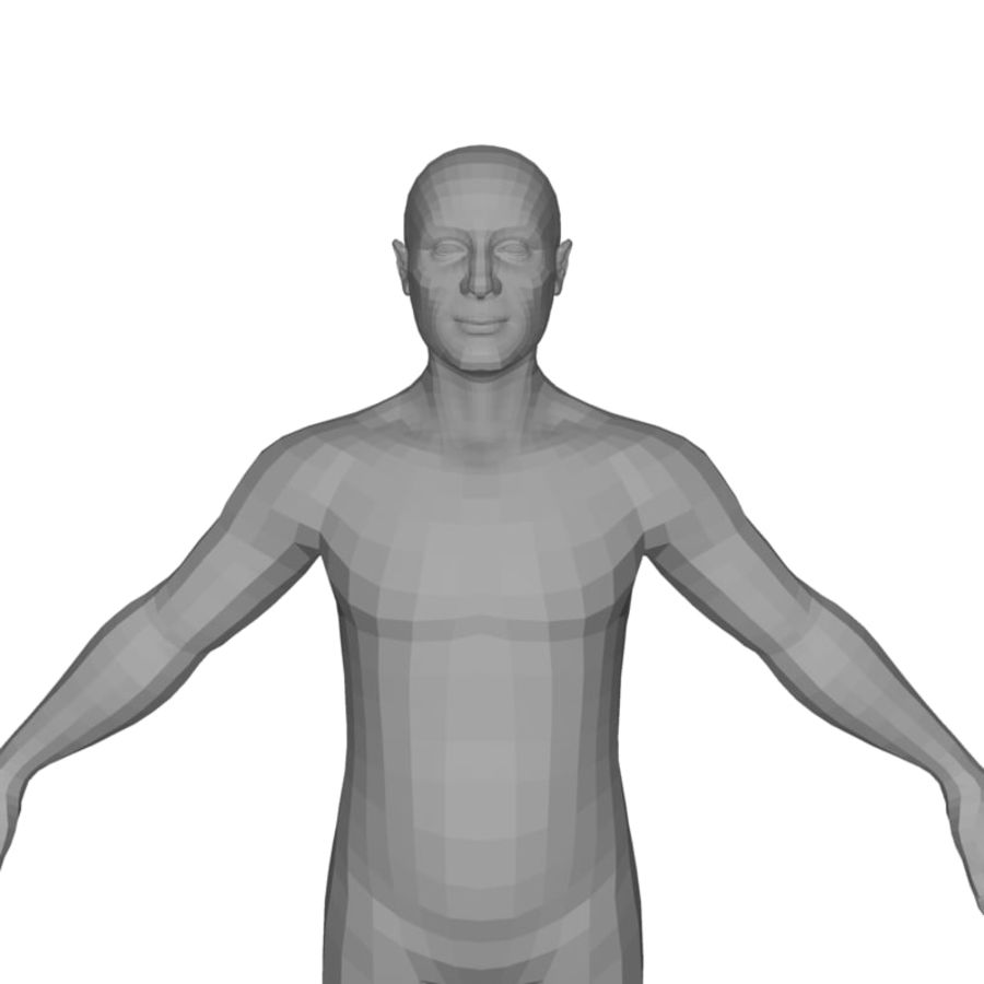 Male Body(1) royalty-free 3d model - Preview no. 12