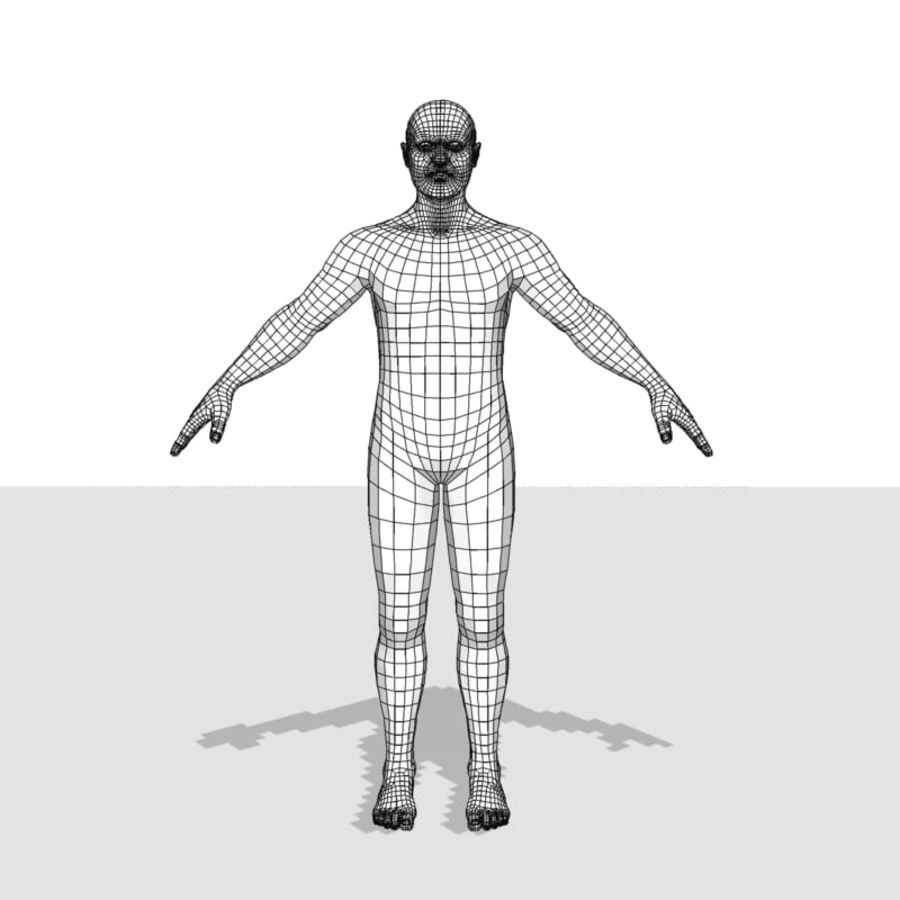 Male Body(1) royalty-free 3d model - Preview no. 13