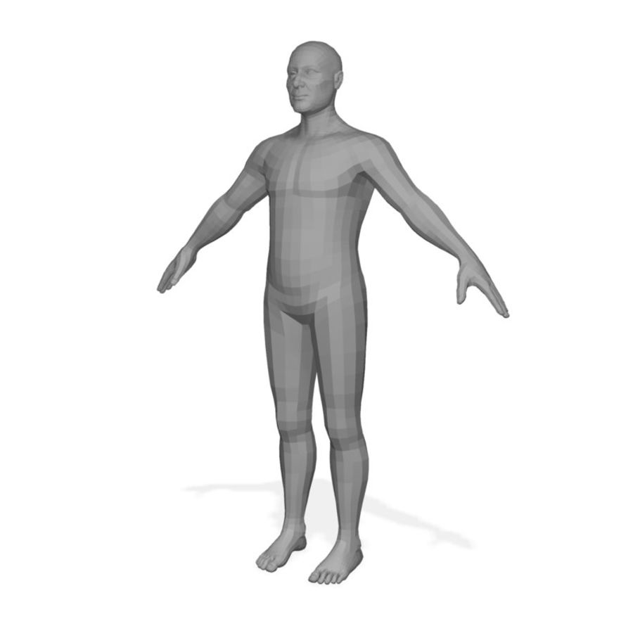 Male Body(1) royalty-free 3d model - Preview no. 5