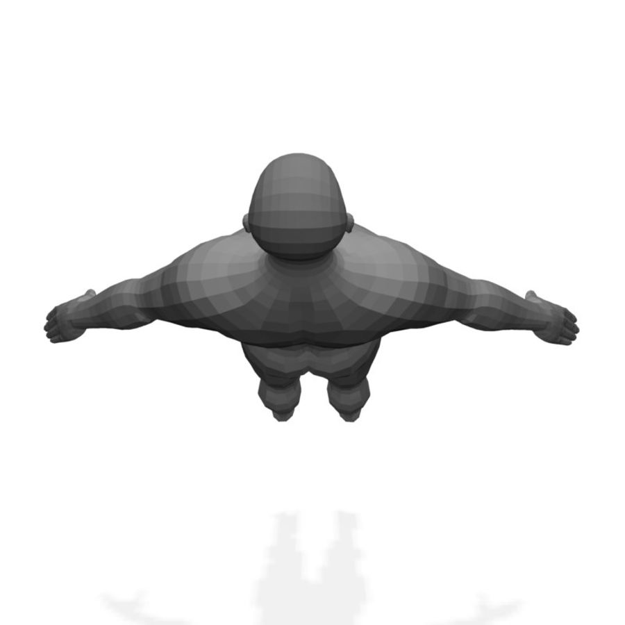 Male Body(1) royalty-free 3d model - Preview no. 3