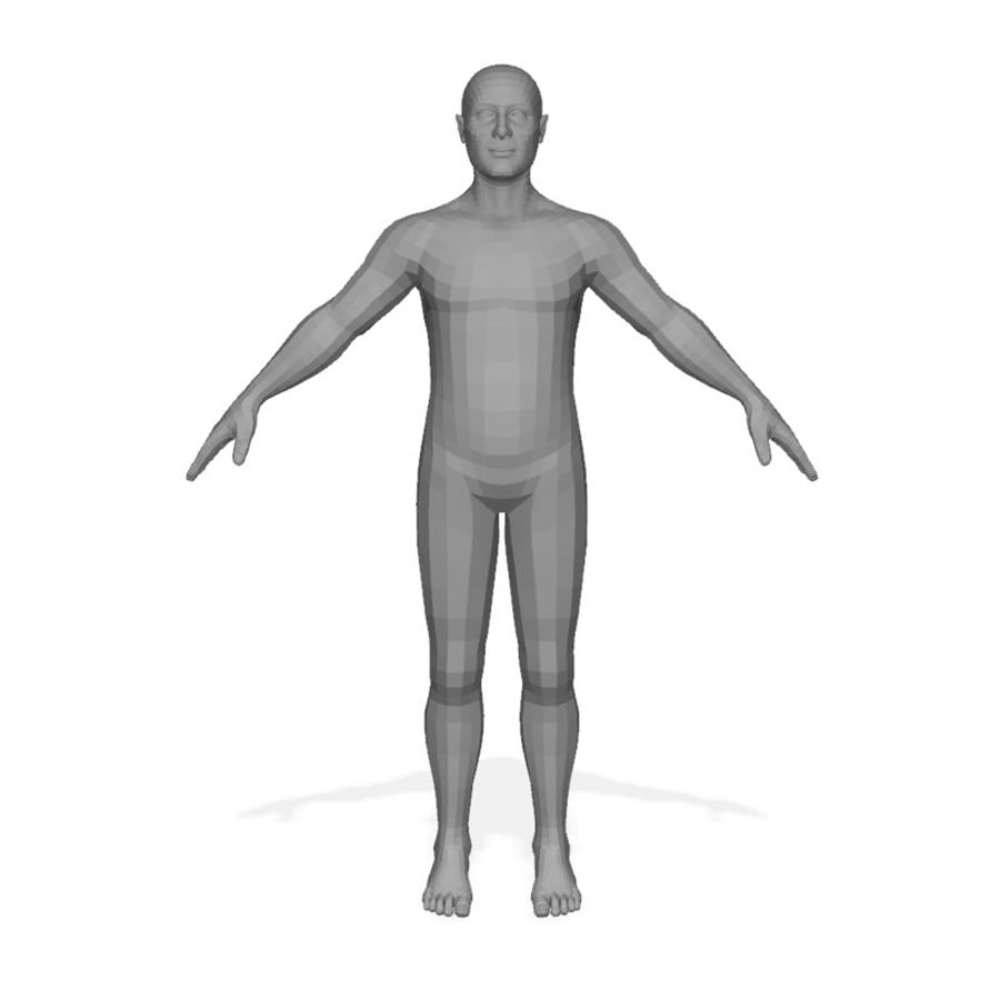 Male Body(1) royalty-free 3d model - Preview no. 1