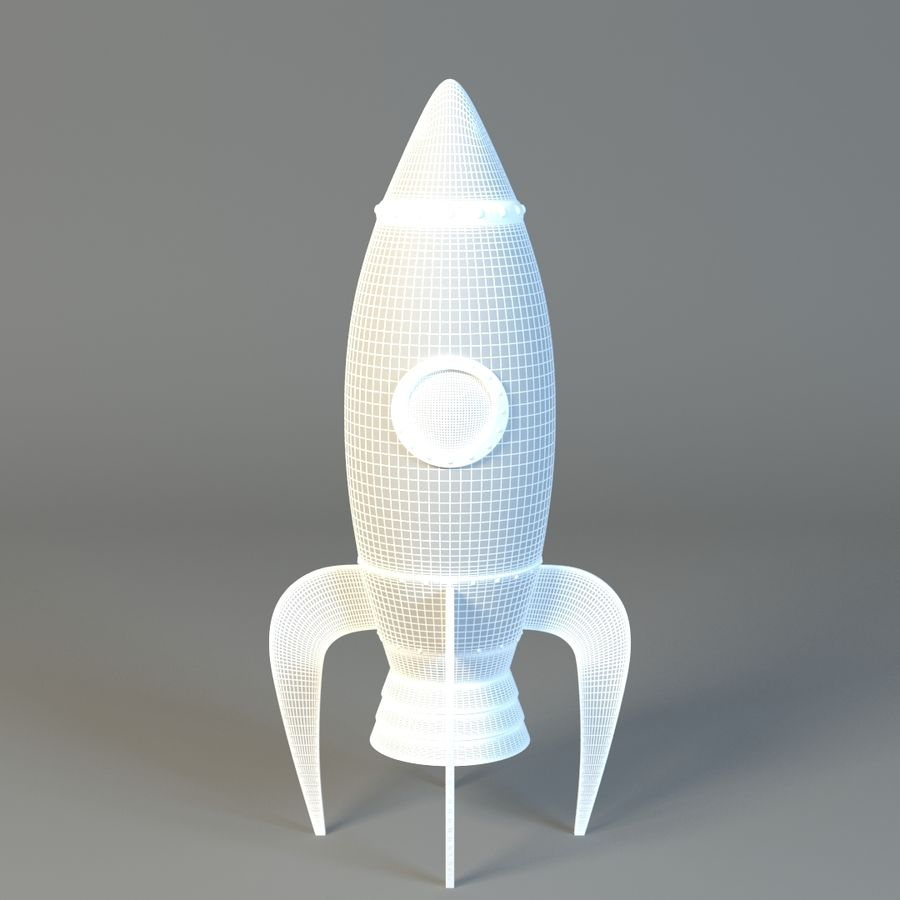Cartoon rocket royalty-free 3d model - Preview no. 3