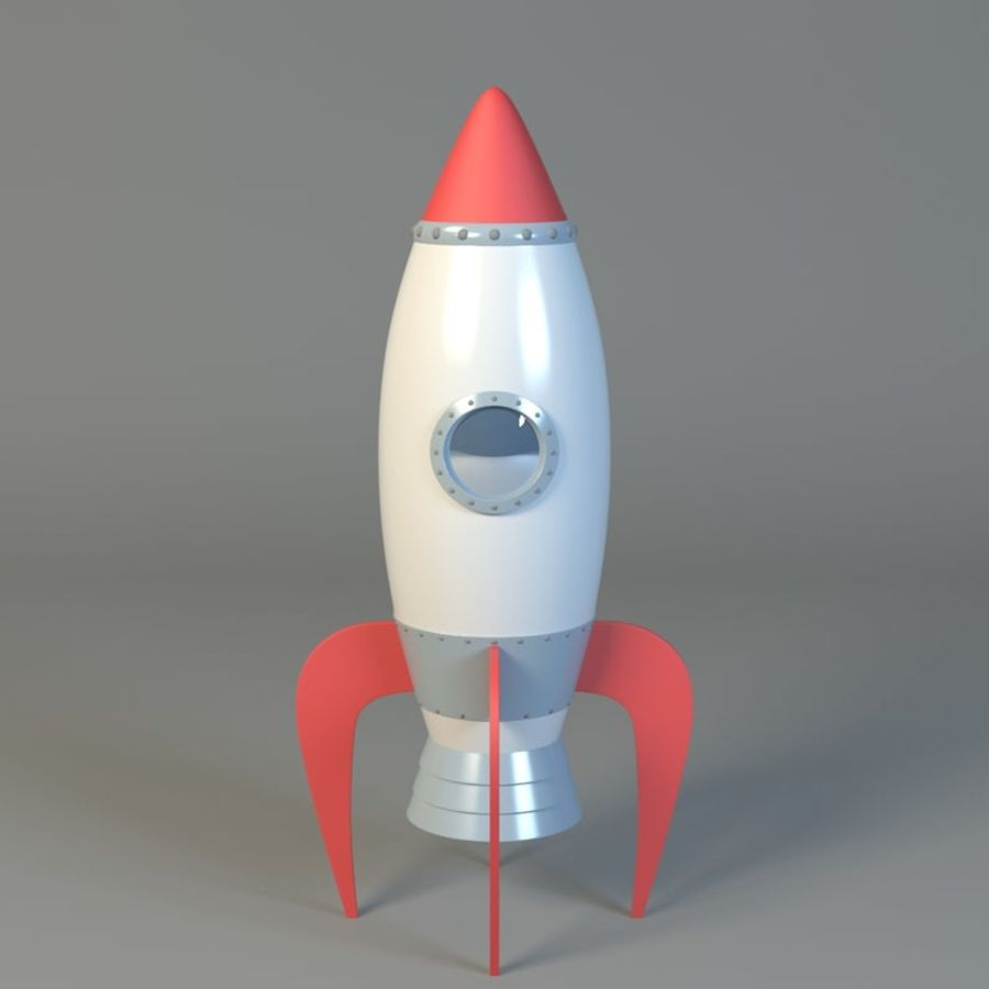 Cartoon rocket royalty-free 3d model - Preview no. 1