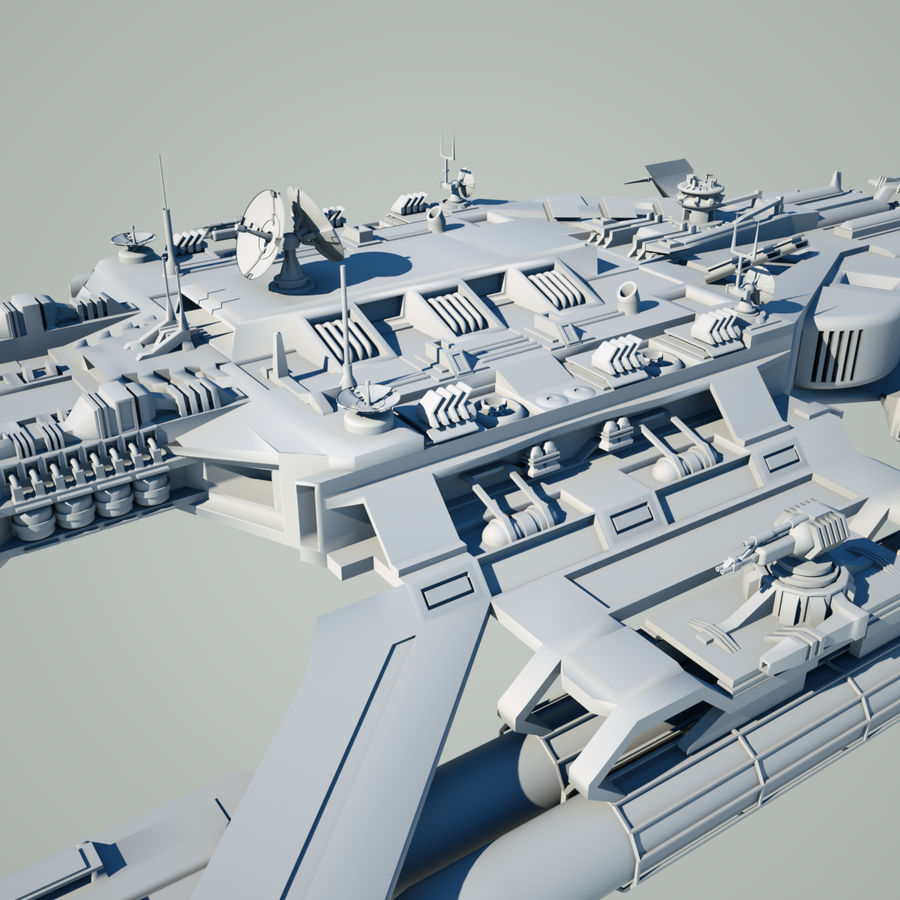 Battlestar royalty-free 3d model - Preview no. 8