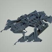 太空堡垒 3d model