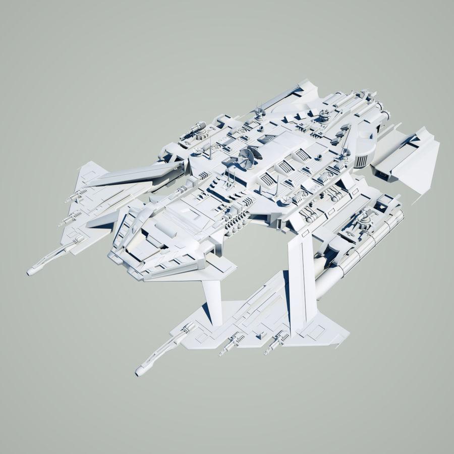 Battlestar royalty-free 3d model - Preview no. 2