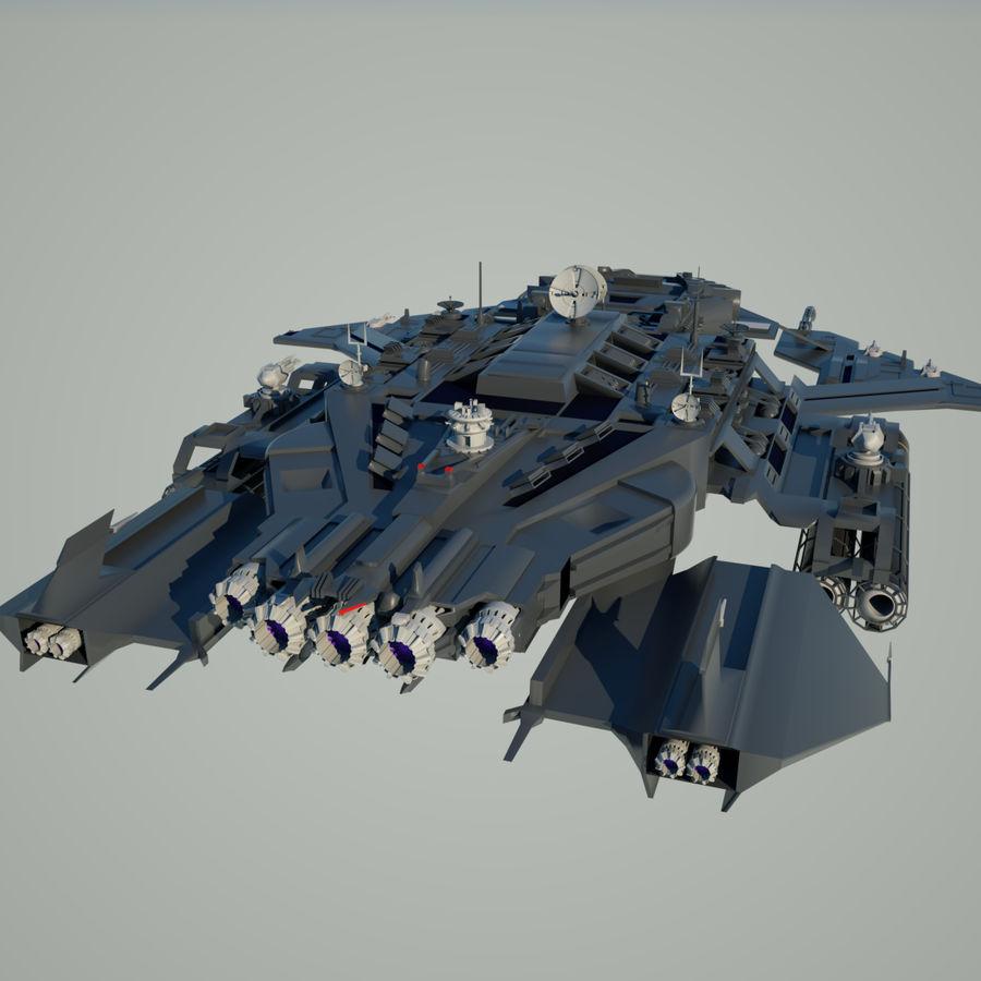 Battlestar royalty-free 3d model - Preview no. 5