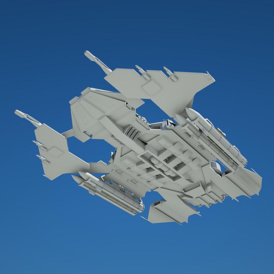 Battlestar royalty-free 3d model - Preview no. 4