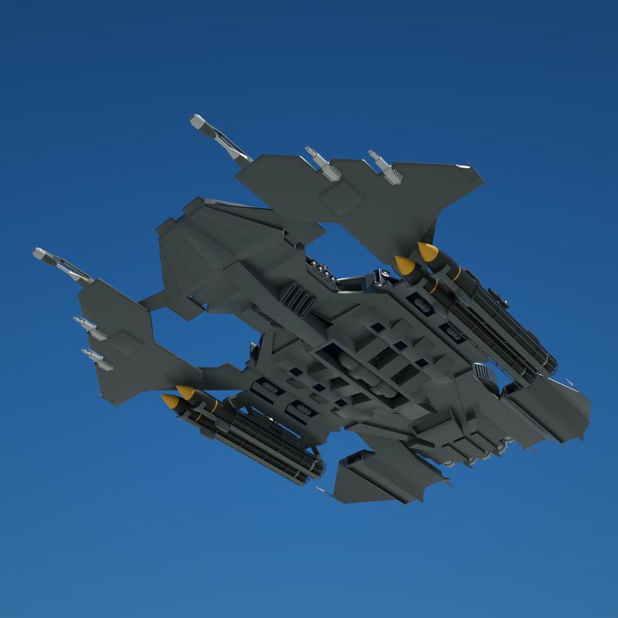 Battlestar royalty-free 3d model - Preview no. 3