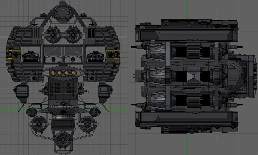 Base Spaceship royalty-free 3d model - Preview no. 12
