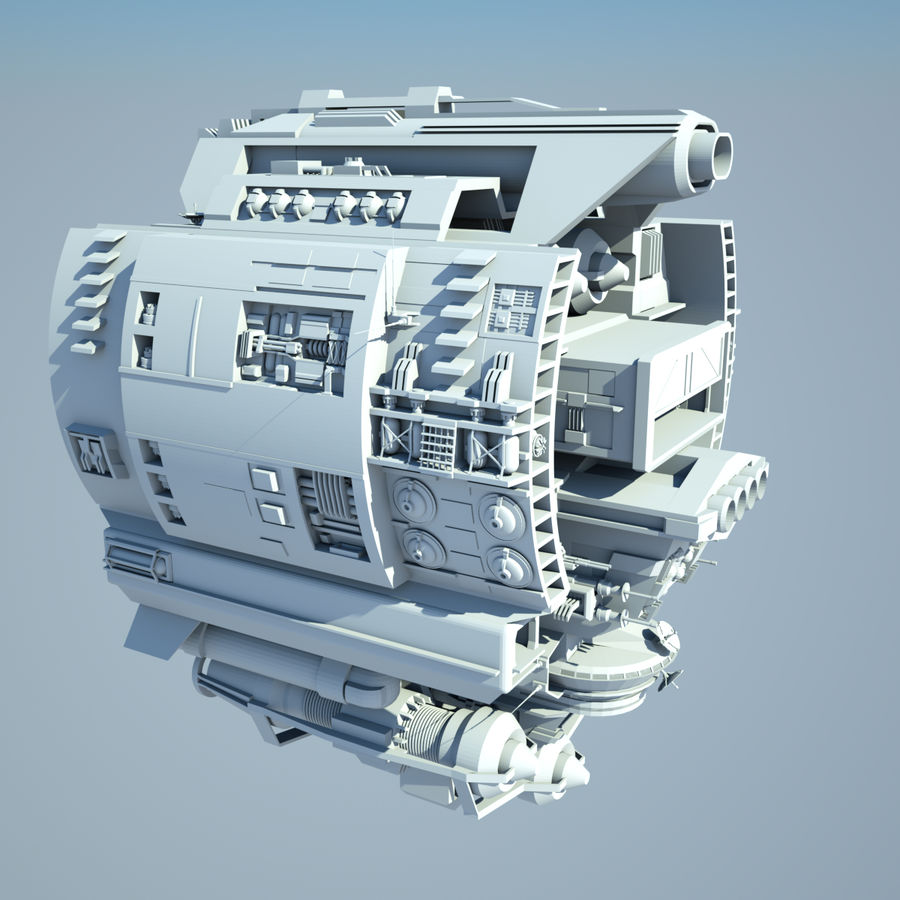 Base Spaceship royalty-free 3d model - Preview no. 2