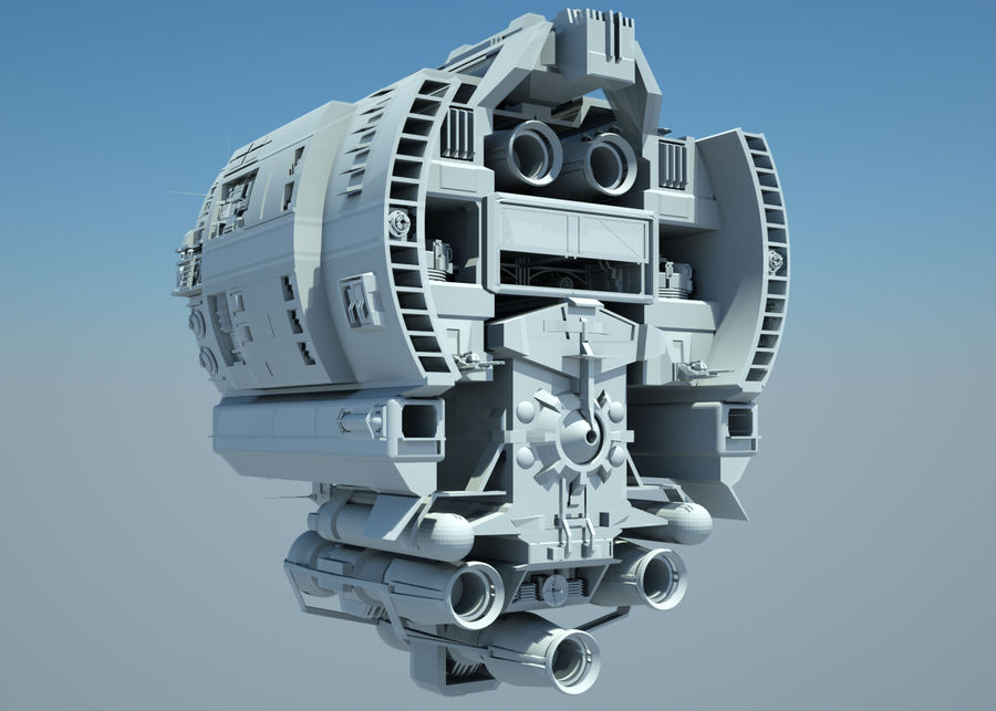 Base Spaceship royalty-free 3d model - Preview no. 9