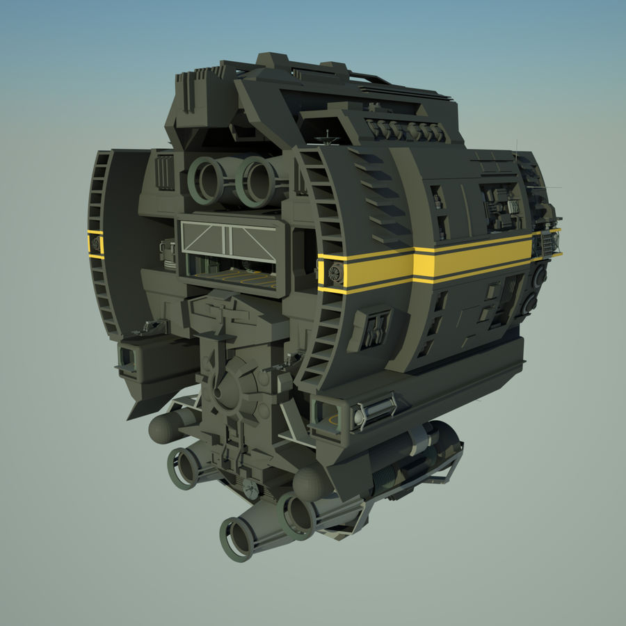 Base Spaceship royalty-free 3d model - Preview no. 3