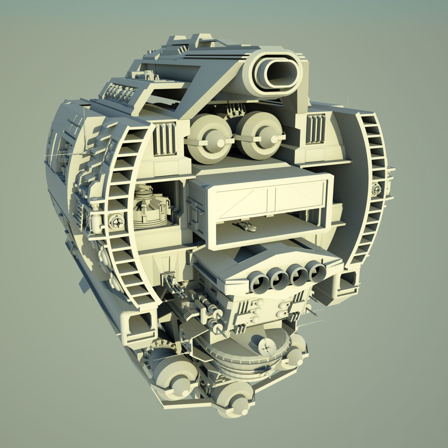 Base Spaceship royalty-free 3d model - Preview no. 5