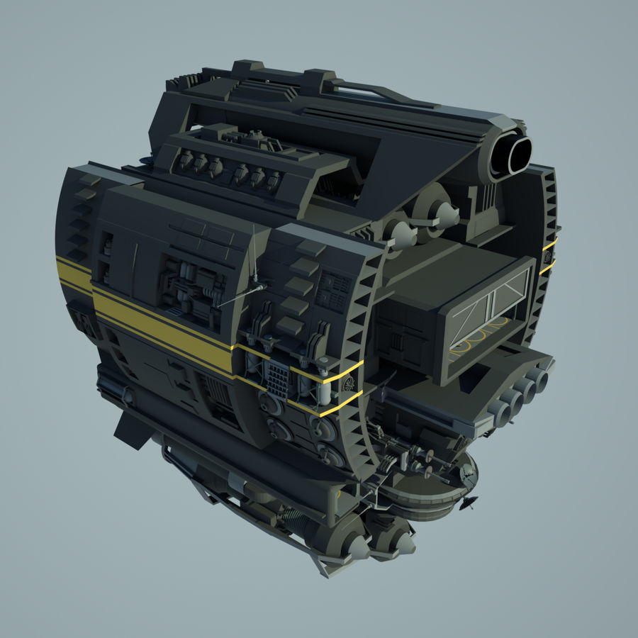 Base Spaceship royalty-free 3d model - Preview no. 1