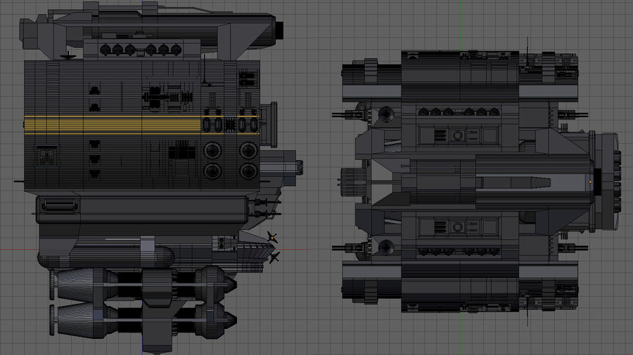 Base Spaceship royalty-free 3d model - Preview no. 11