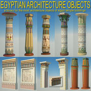 Egyptian architecture objects 3d model