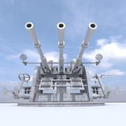 anti aircraft gun 25 mm 3d model