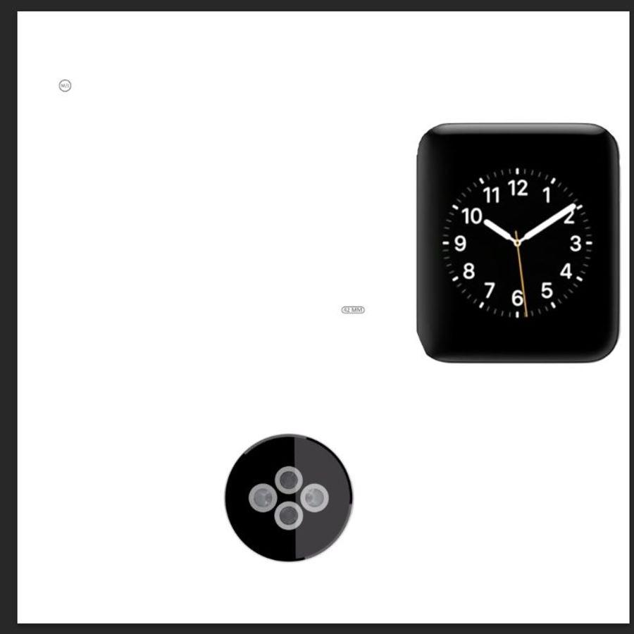 яблочные часы спорт royalty-free 3d model - Preview no. 10
