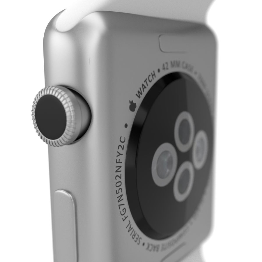 Apple Watch Sport royalty-free 3d model - Preview no. 4