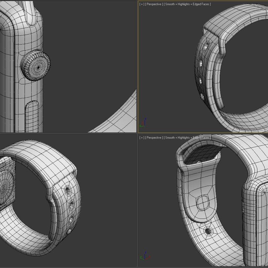 яблочные часы спорт royalty-free 3d model - Preview no. 6