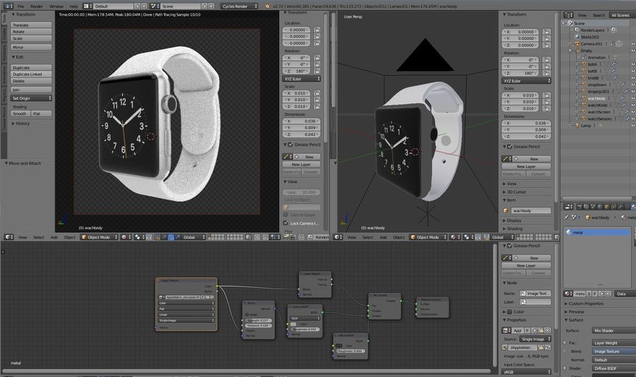 Apple Watch Sport royalty-free 3d model - Preview no. 9