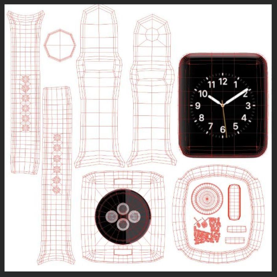 яблочные часы спорт royalty-free 3d model - Preview no. 8