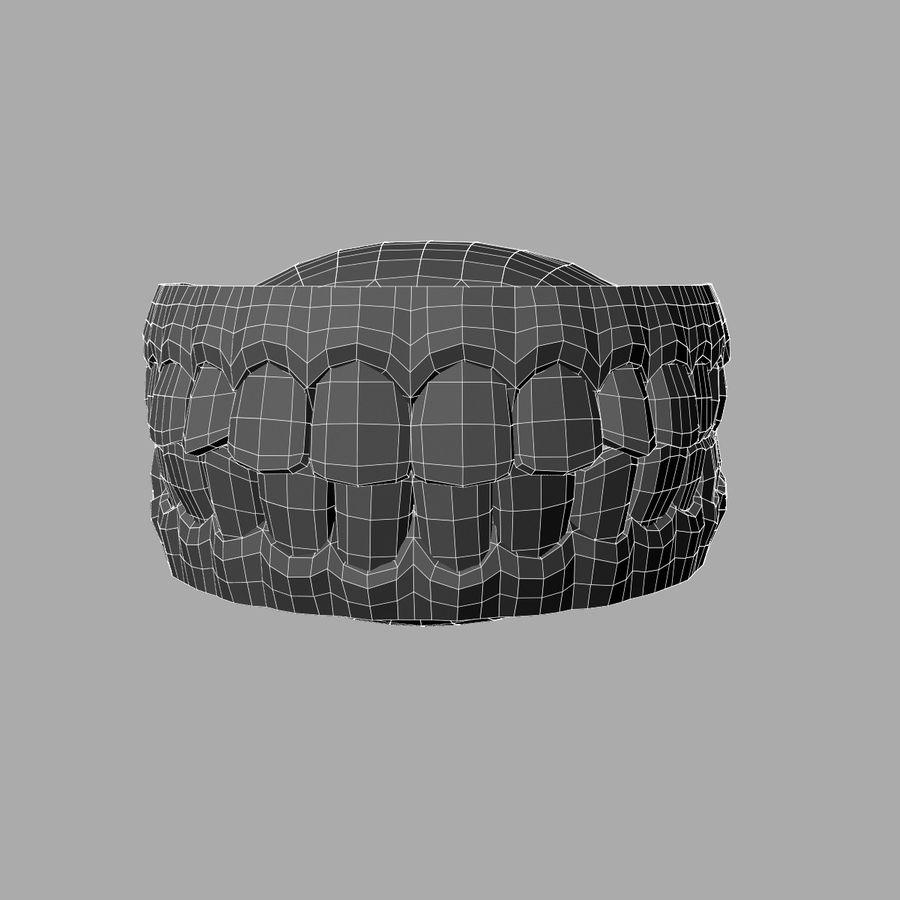 zestaw zębów royalty-free 3d model - Preview no. 5