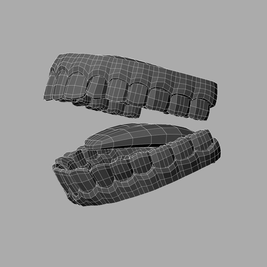 zestaw zębów royalty-free 3d model - Preview no. 7