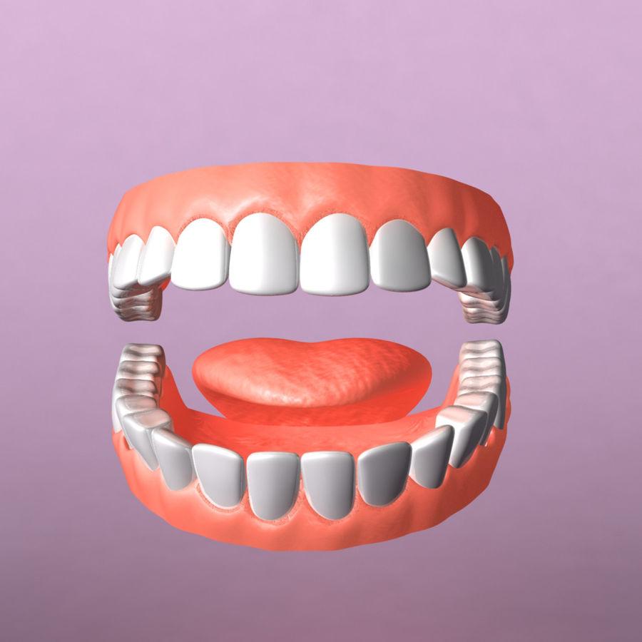 zestaw zębów royalty-free 3d model - Preview no. 4