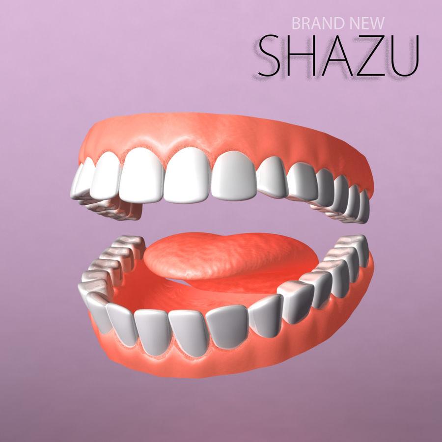zestaw zębów royalty-free 3d model - Preview no. 1
