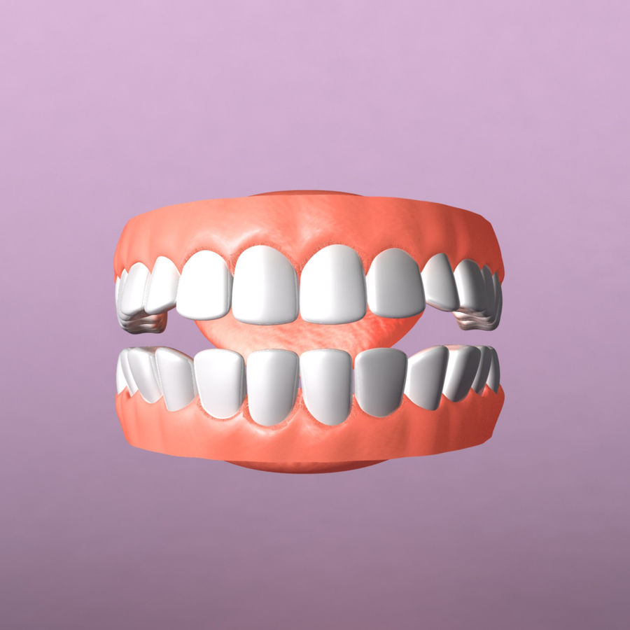 zestaw zębów royalty-free 3d model - Preview no. 3