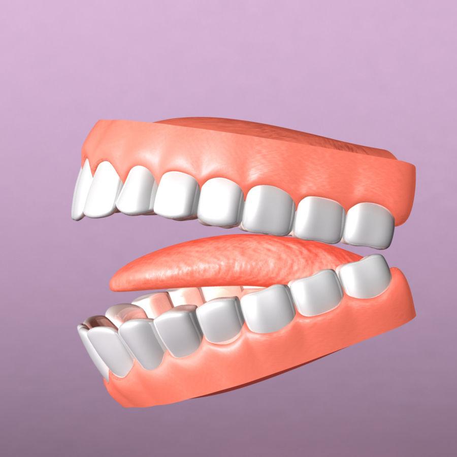 zestaw zębów royalty-free 3d model - Preview no. 2