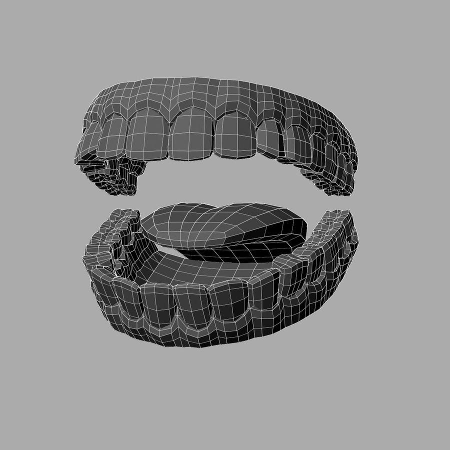 zestaw zębów royalty-free 3d model - Preview no. 6