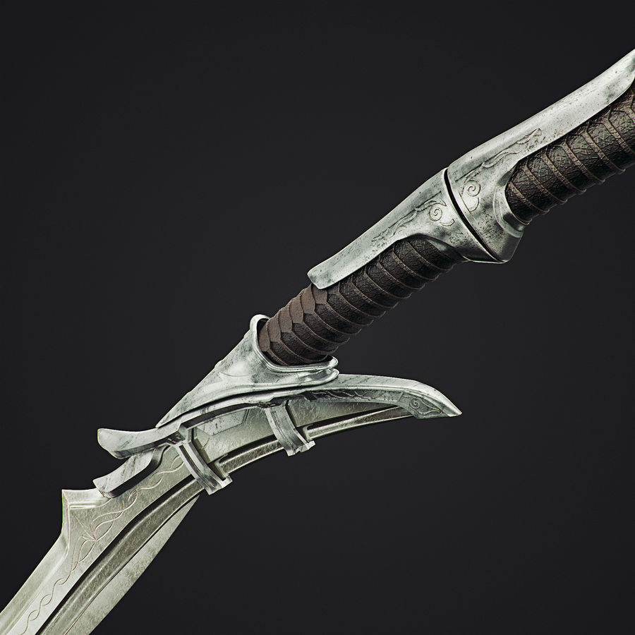 Sword royalty-free 3d model - Preview no. 3