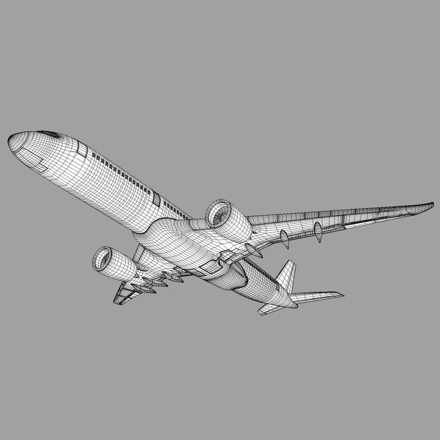 A350 Airbus Zniżka cenowa. royalty-free 3d model - Preview no. 7