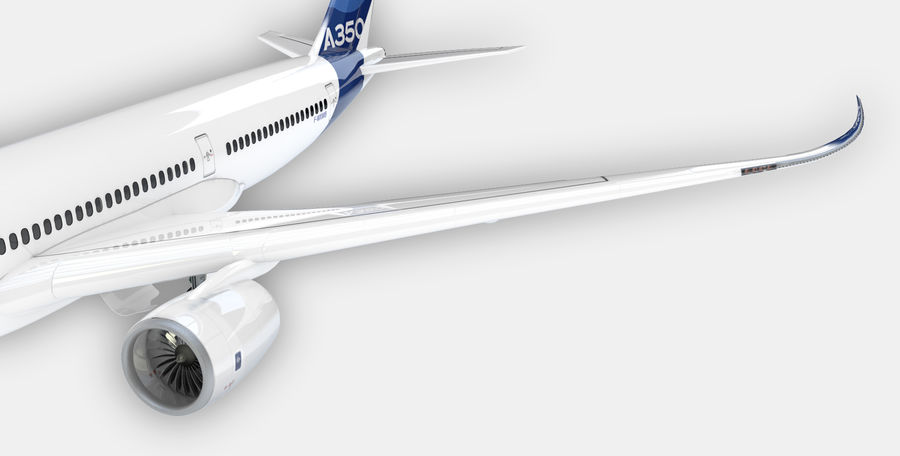 A350 Airbus Zniżka cenowa. royalty-free 3d model - Preview no. 6
